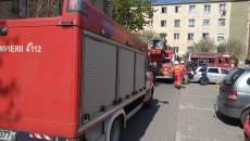 Incendiu într-un bloc din Arad