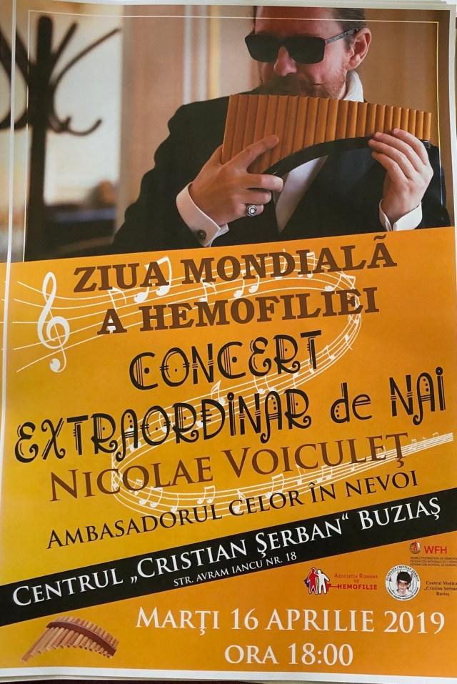 Maestrul Nicolae Voiculeț - concert extrordinar de nai la Buziaș