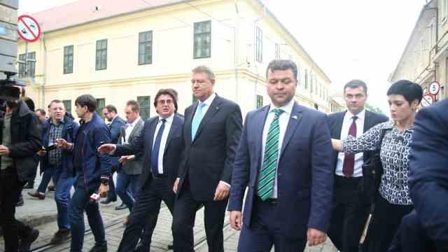 Klaus Iohannis la Timisoara