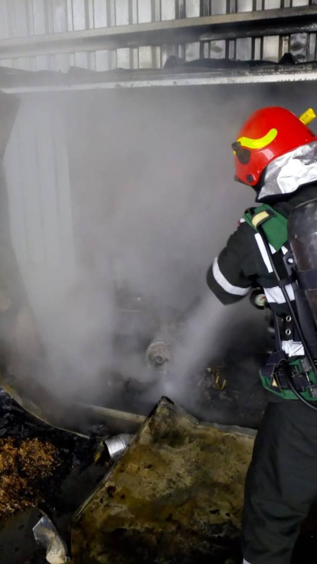 Incendiu la o fermă Smithfield din Timiș