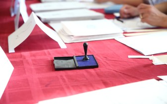 Ștampilă dispărută la o secție de votare din Timișoara