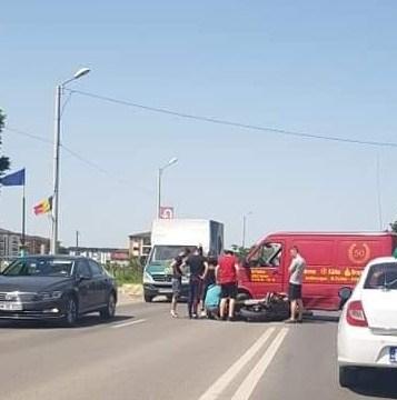Motociclist rănit grav într-un accident între Timișoara și Dumbrăvița