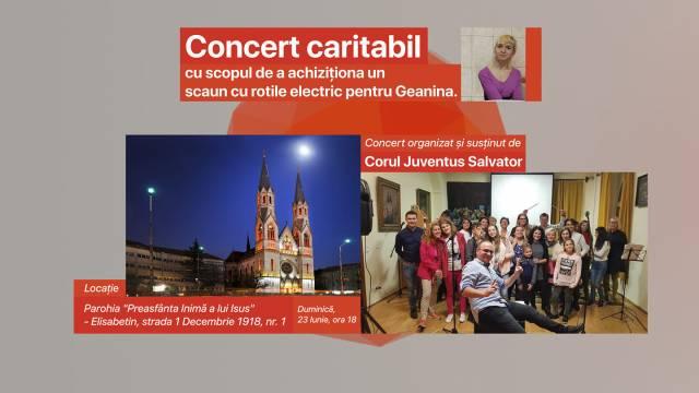Concert caritabil pentru Geanina