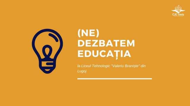 Educația va fi dezbătută la Lugoj