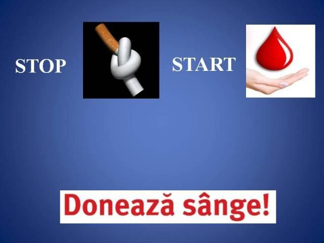 Lasă-te de fumat și donează sânge