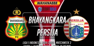 Prediksi Bhayangkara vs Persija 14 Maret 2020