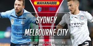 Prediksi Sydney FC vs Melbourne City 30 Agustus 2020