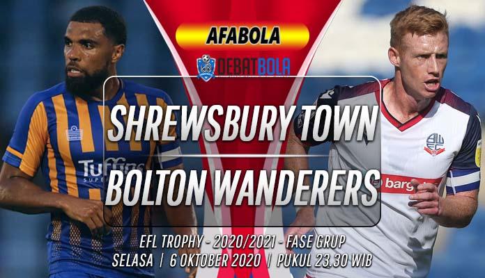 Prediksi Shrewsbury Town vs Bolton Wanderers 6 Oktober 2020