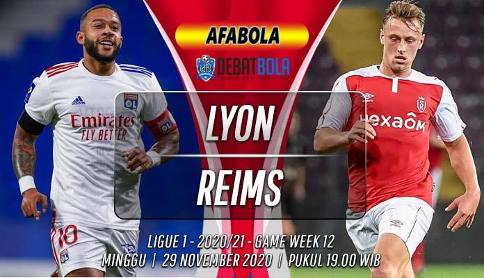 Prediksi Lyon vs Reims 29 November 2020