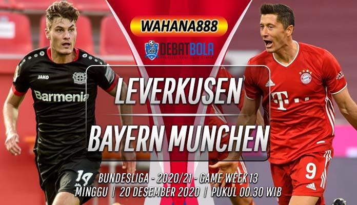 Prediksi Bayer Leverkusen vs Bayern Munchen 20 Desember 2020