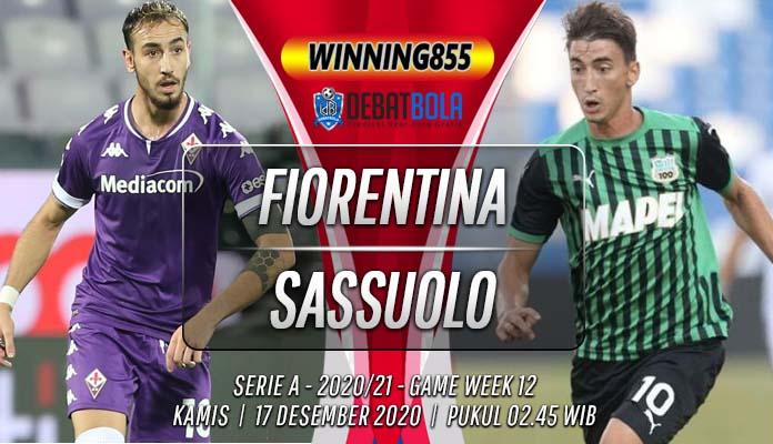 Prediksi Fiorentina vs Sassuolo 17 Desember 2020