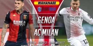 Prediksi Genoa vs AC Milan 17 Desember 2020