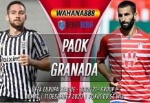 Prediksi PAOK vs Granada 11 Desember 2020