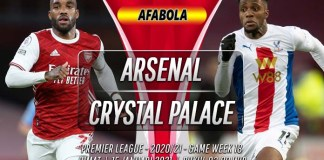 Prediksi Arsenal vs Crystal Palace 15 Januari 2021