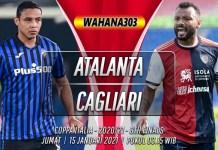 Prediksi Atalanta vs Cagliari 15 Januari 2021