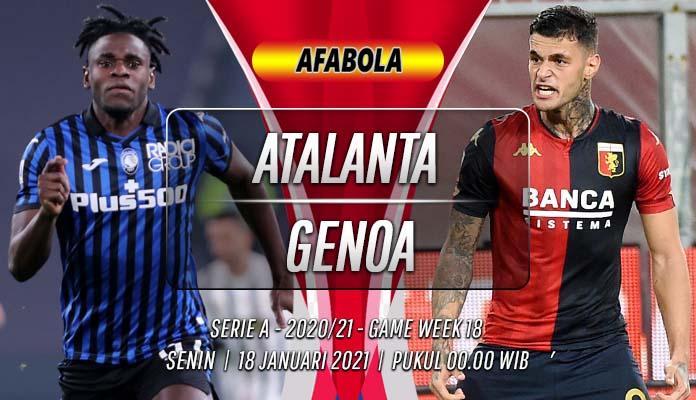 Prediksi Atalanta vs Genoa 18 Januari 2021