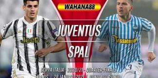 Prediksi Juventus vs SPAL 28 Januari 2021