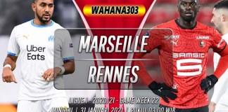 Prediksi Marseille vs Rennes 31 Januari 2021