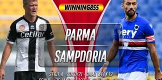 Prediksi Parma vs Sampdoria 25 Januari 2021
