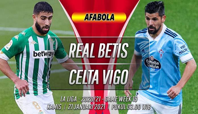 Prediksi Real Betis vs Celta Vigo 21 Januari 2021