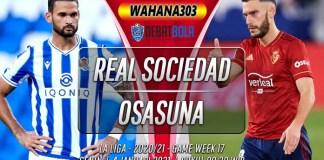 Prediksi Real Sociedad vs Osasuna 4 Januari 2021