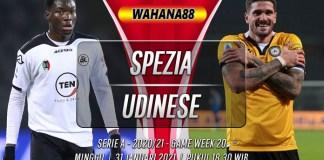 Prediksi Spezia vs Udinese 31 Januari 2021