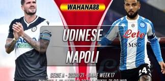 Prediksi Udinese vs Napoli 10 Januari 2021