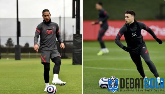 Kabar Baik Bagi Liverpool, Jota dan Van Dijk Mulai Berlatih