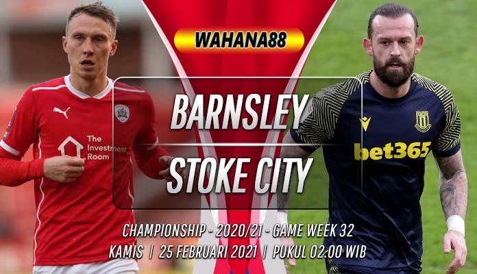 Prediksi Barnsley vs Stoke City 25 Februari 2021