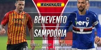 Prediksi Benevento vs Sampdoria 7 Februari 2021