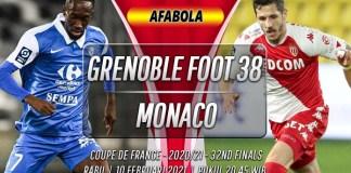 Prediksi Grenoble Foot 38 vs Monaco 10 Februari 2021