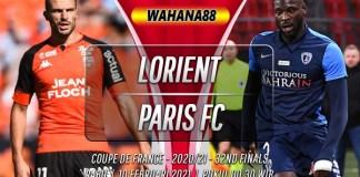 Prediksi Lorient vs Paris FC 10 Februari 2021