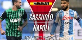 Prediksi Sassuolo vs Napoli 4 Maret 2021