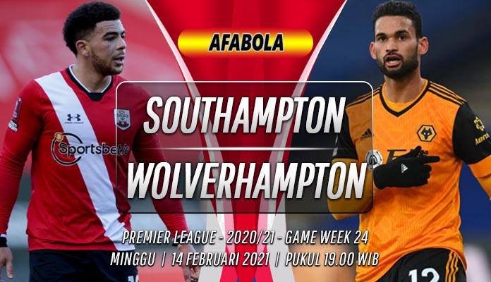 Prediksi Southampton vs Wolverhampton 14 Februari 2021