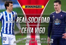 Prediksi Real Sociedad vs Celta Vigo 23 April 2021