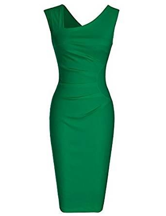 Vestido retro estilo pencil color verde