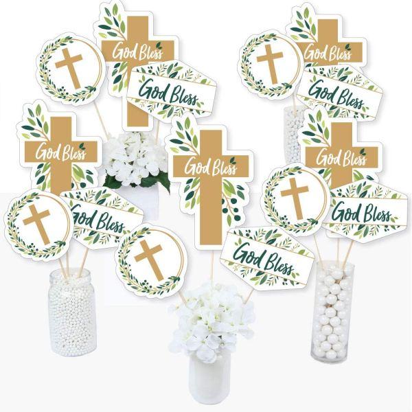 Accesorios para decorar mesa de bautizo