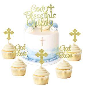 cupcakes topper bautismo