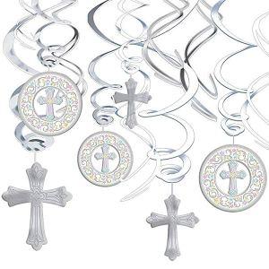 guirnalda cruz bautismo