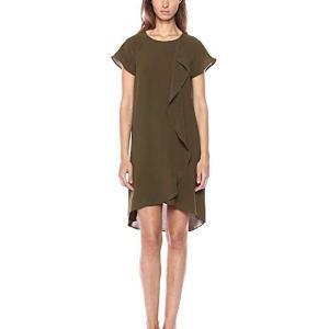 Vestido suelto oliva