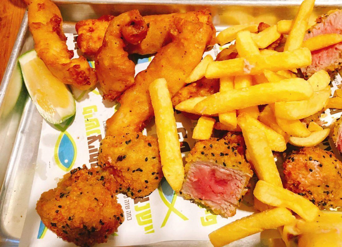 Fish en Chip - Kosher - Jerusalem Shuk - Fried Tuna and Chips