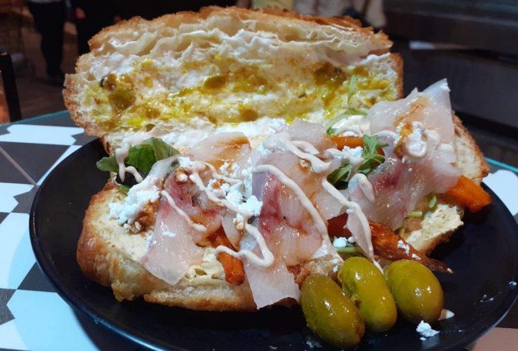 Yellowtail Sashimi Croissant - Croissant Chef Jerusalem Kosher