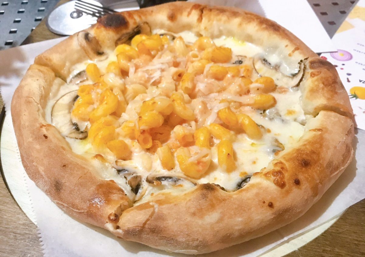 Mac & Cheese Pizza, Pizza Pompia Jerusalem Mehadrin