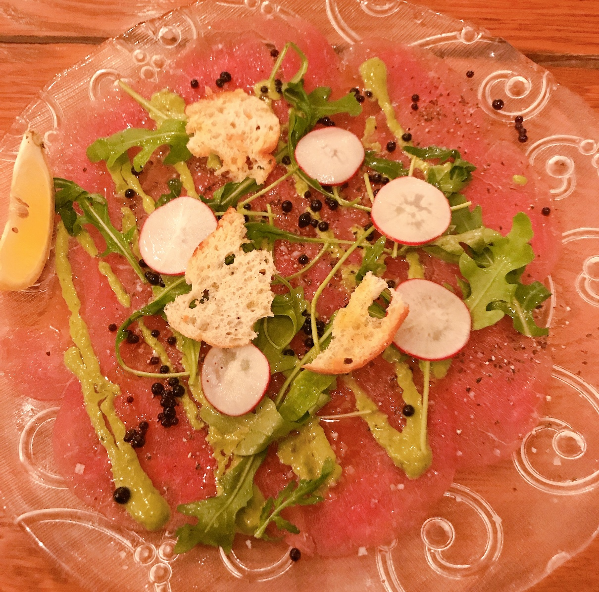 Beef Carpaccio - Touro - Kosher - Jerusalem