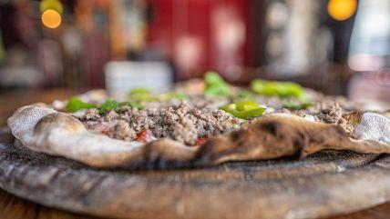 Meat Pizza - Caffe Yaffo - Kosher - Tel Aviv