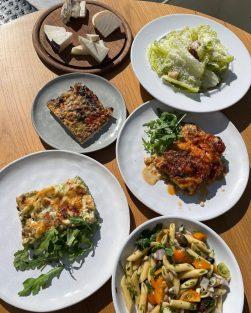 Menachem - Not Kosher - Tel Aviv Beach - Salads and Pasta