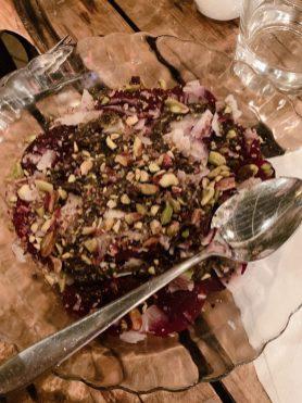 Pergamon - Bar - Jerusalem - Vegetarian - Beet Carpaccio