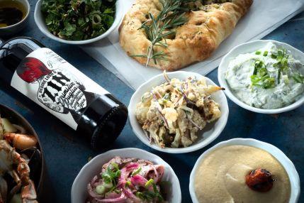 Manta Ray - Tel Aviv Beach restaurant - Not Kosher - Mezze Salads