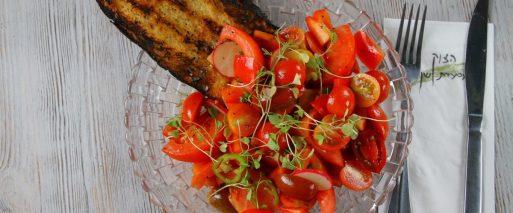 Hatzuk Restaurant - Kosher - Rosh Hanikra - Tomato Salad