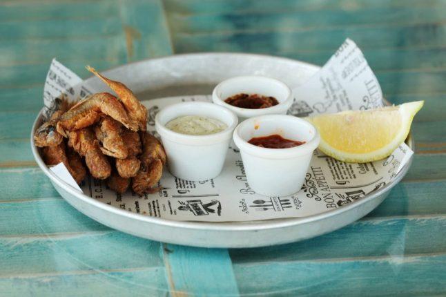 Limani Bistro - Sea food - Caesaria Port - Not Kosher - Fried Barbunia
